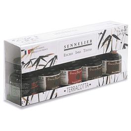 Sennelier Terracotta - Tinta de dibujo (5 x 30 ml)