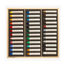 Pasteles al óleo Sennelier - caja de madera con 36 pasteles