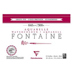 Bloc Fontaine para Acuarela Grano Fino - Encolado en 4 lados (3 tamaños)