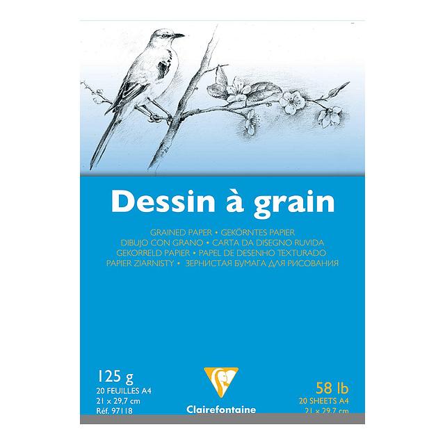 """Bloc encolado Dibujo """"Dessin a Grain"""" 125 g (3 tamaños)"""