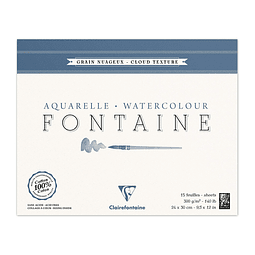 """Bloc """"Fontaine"""" Acuarela - Grano Nuboso 300 g (4 tamaños)"""