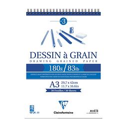 """Bloc Anillado Dibujo """"Dessin a Grain"""" 180 g"""