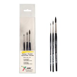 Set de pinceles para manualidades y pasatiempos - pelo de ardilla