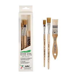 Set de pinceles para decoupage Hobby and Craft.