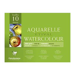 Papel para Aquarela Etival Grano Grueso 100% celulosa (5 tamaños)