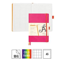 GoalBook Tapa Blanda Cuadrados Hojas Marfil - 14,8 x 21 cm - (Colores)