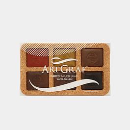 ArtGraf Tailor Shape, tonos tierra - 6 Piezas