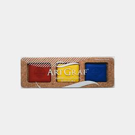 ArtGraf Tailor Shape, colores primarios - 3 Piezas