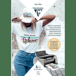 Papel Transfer para textiles claros