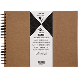 Álbum KRAFT para personalizar 40 hojas