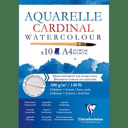 "Bloc Acuarela ""Cardinal"" Doble Grano"