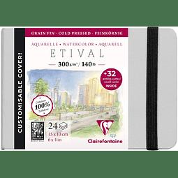 Libreta Etival con tarjetas de visita (10x15cm 300g)