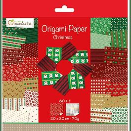 Papel Origami Navidad