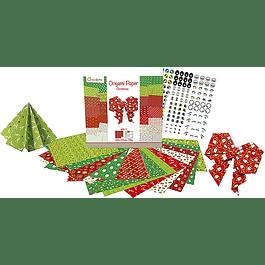Set Navidad Origami 20 x 20 cm