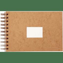Libreta de viaje para Acuarela (3 tamaños) - Portada color tabaco