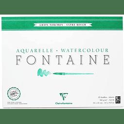 """Bloc """"Fontaine"""" Acuarela Grano Torchón encolado en 4 lados"""