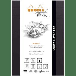 "Rhodia Touch ""White Maya Pad"" Blanco (2 tamaños)"