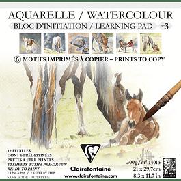 Bloc de iniciación Aquaerela - Pad N°3