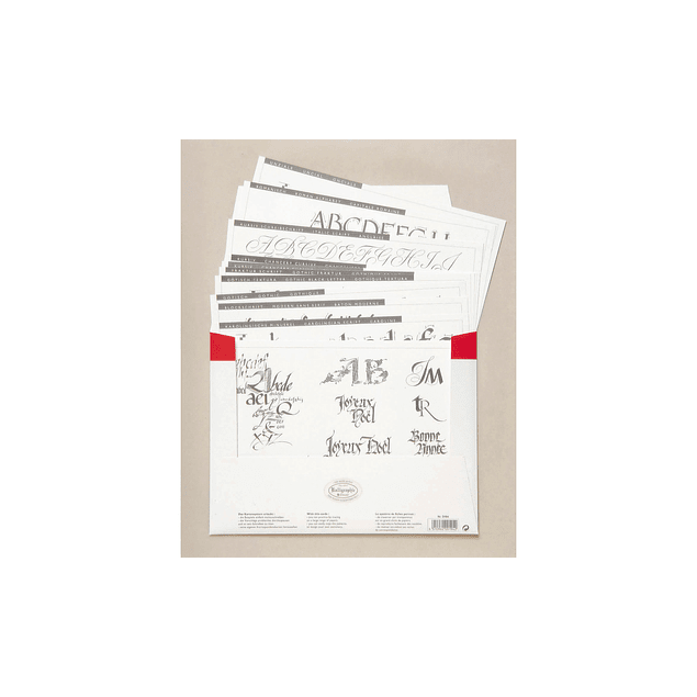 carta de aprendizaje caligrafia