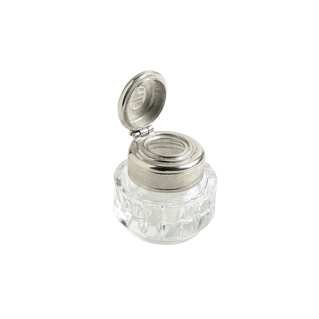inkpot engraved with the Herbin ship logo