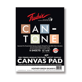 Fredrix Can-Tone Pre-Toned Canvas Pad - Verde