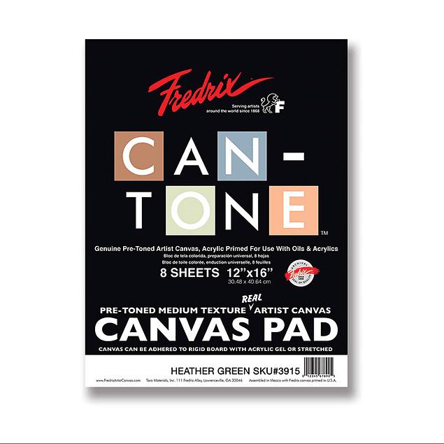 Fredrix Can-Tone Pre-Toned Canvas Pad - Verde
