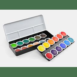 """Set 24 Acuarelas """"Transparent Colours"""""""