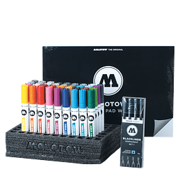 Aqua Color Brush Set Full 2