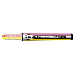Marcador fluorescente de dos colores (3 diferentes)