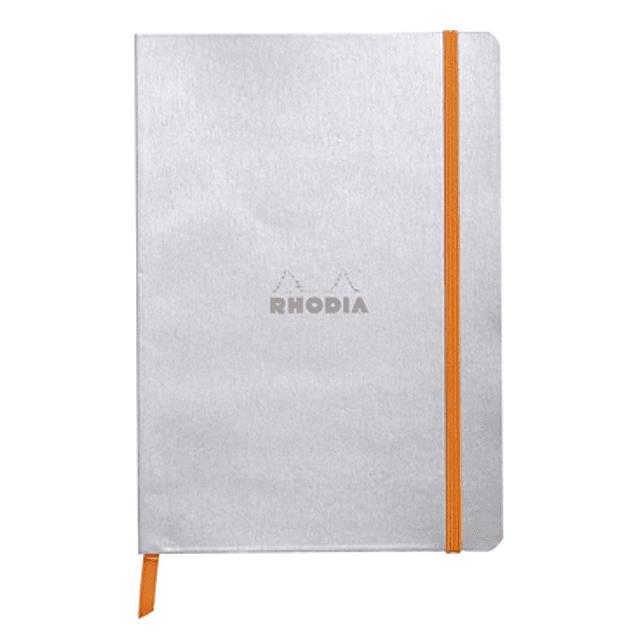 Rhodiarama Soft Cover A5, Plata, Líneas