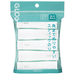 Paquete de 5 tamaño S - Pegamento en barra de color - Firme