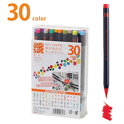 "Set Completo 30 ""Aya"" Brush Pen"