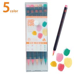 """Set 5 """"Aya"""" Brush Pen - Set Spring"""