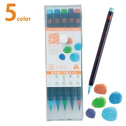 """Set 5 """"Aya"""" Brush Pen - Set Summer"""