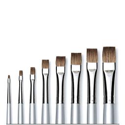 6175 - Short Flat Oil Brush