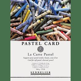 PASTEL CARD - Bloc encolado - 4 tamaños - 12 hojas (2 x 6 colores)