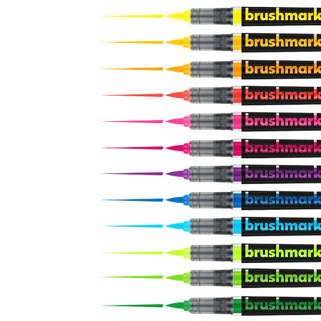 BrushmarkerPRO | Neon 12 Colores Individuales