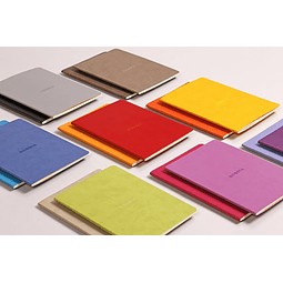 Cuaderno A5 con lomo cosido - Plata