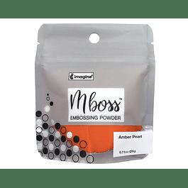 Mboss Embossing Powder Amber Pearl