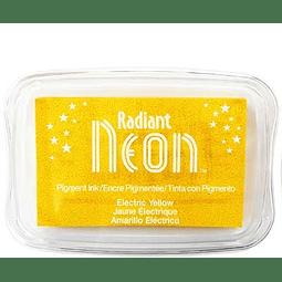 Radiant Neon full-size inkpad Electric Yellow