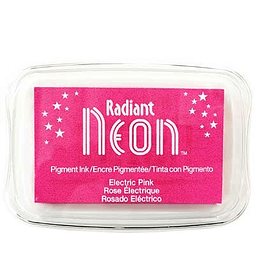 Radiant Neon full-size inkpad Electric Pink