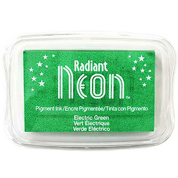 Radiant Neon full-size inkpad Electric Green