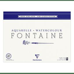 """Grano Semi-satinado """"Fontaine"""" 10 láminas con flecos"""