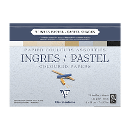 Bloc Ingres / Pastel Colores Pastel Surtidos - (4 tamaños)