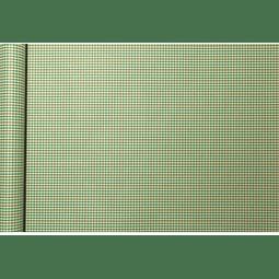 Rollo de papel de regalo Kraft - Escamas Verdes 5 m x 0,35 m