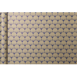Rollo de papel de regalo Kraft - Flores Azules 5 m x 0,35 m
