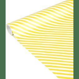 """Rollo de papel de regalo - """"Líneas Amarillas"""" 5 m x 0,35 m"""