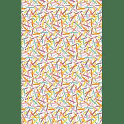 "20 láminas Decopatch 30 x 40 cm ""Lápices Colores"""