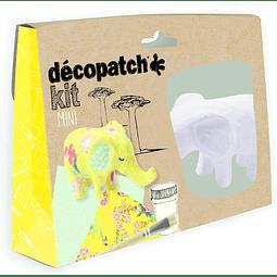 Mini Kit - Elefante + 2 papeles Decopatch