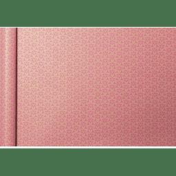 """Rollo de papel de regalo Kraft - """"Pink Flower"""" 5 m x 0,35 m"""